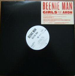 BEENIE MAN - Girls Promo Akon - LP + 12inch