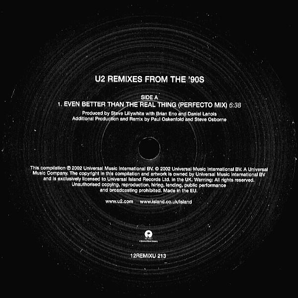 """U2 Remixes From The '90s 2X12"""""""
