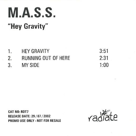 M.A.S.S. (3) Hey Gravity CD