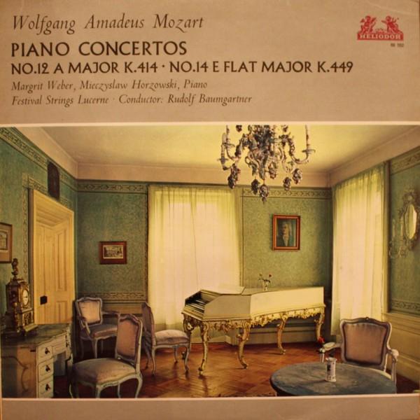 Wolfgang Amadeus Mozart  Margrit Weber  Mieczyslaw Horszowski  Festival Strings Lucerne  Rudolf Baumgartner Piano Concertos (No.12 A-Major K414 - No.14 E Flat