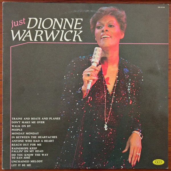 Dionne Warwick just Dionne Warwick LP