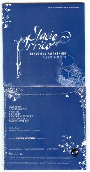 Stacie Orrico Beautiful Awakening 7 track PROMO CD