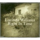 Lucinda Williams Right in Time PROMO CDS
