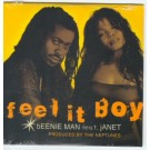 Janet Jackson Beenie Man Fell it Boy 3 Track PROMO CDS