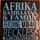 "Afrika Bambaataa & Family Featuring UB40 Reckless 12"""