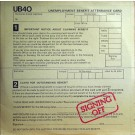 UB40 Signing Off LP