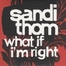 Sandi Thon What If I'm Right PROMO CDS