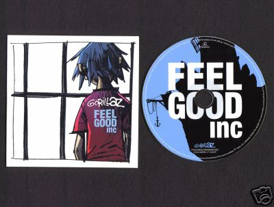 GORILLAZ - Feel Good Inc EURO promo cd-s with De la Soul - CD single