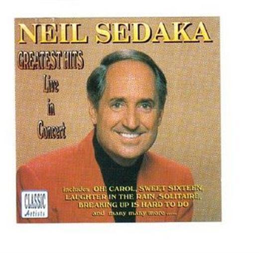 Neil Sedaka Greatest Hits Live In Concert CD