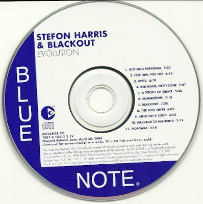 STEFON HARRIS & BLACKOUT - Evolution PROMO CDS - CD single